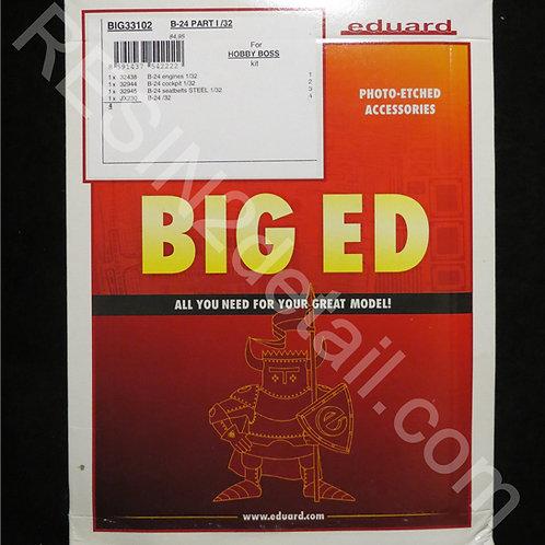 1/32 Eduard BIG ED #33102 B-24 Liberator Part I PE Detail Set