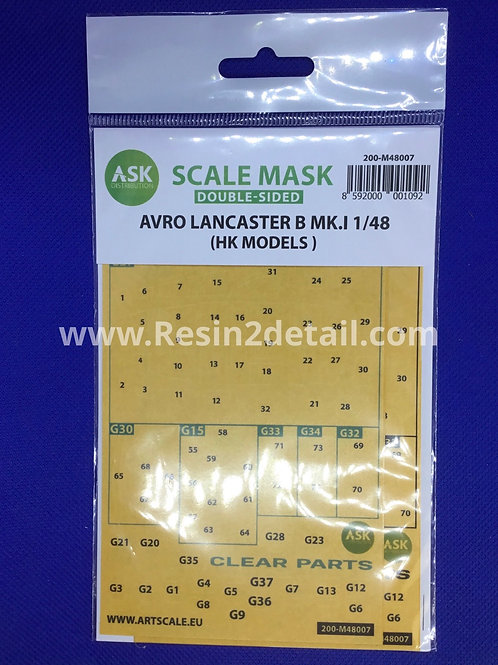 Artscale 1/48 Avro Lancaster Canopy Masks M48007