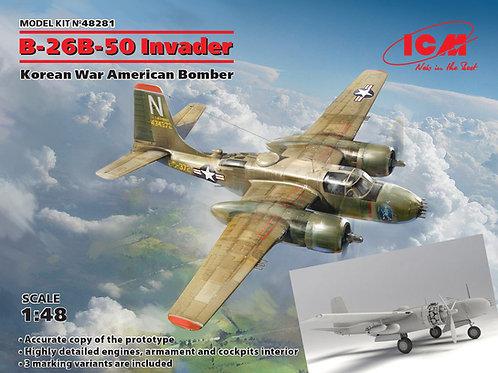 ICM 48281 1/48 USAF A-26 INVADER B-50 Attack Gunship Korean War