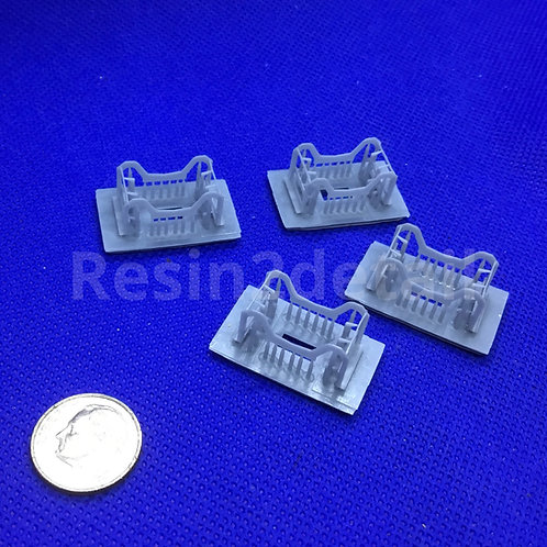 1/48 WWII USAAF Resin Bomb Cradle  Set of Four
