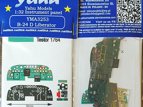 Yahu Models 1/32  B-24 D Liberator Color Instrument Panel Upgrade
