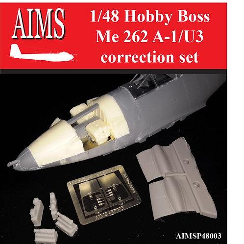 AIMS Resin 1/48 Hobby Boss Me-262 A-1/U3 Correction Set