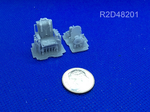 1/48 Avro Lancaster Detailed Pilot's Seat with Belts (For TAM)