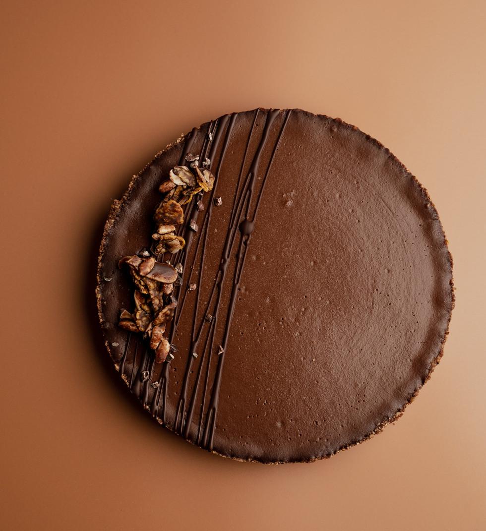 Kǣk Schokolade-Karamell Tarte