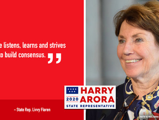 Rep. Livvy Floren Supports Harry Arora in Tues., Jan. 21 Special Election