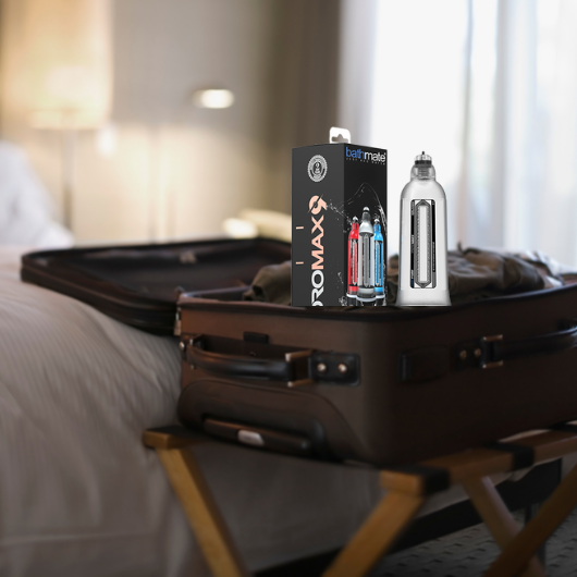 Bathmate in suitcase for college
