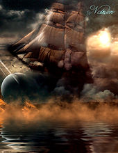 Das Fantasy Notizbuch 'Wolkenschiff' als schöne Geschenkidee