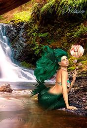 Das Fantasy Notizbuch 'Tjirell, die Meerjungfrau' als schöne Geschenkidee