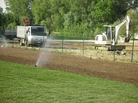 Irrigazione manto verde