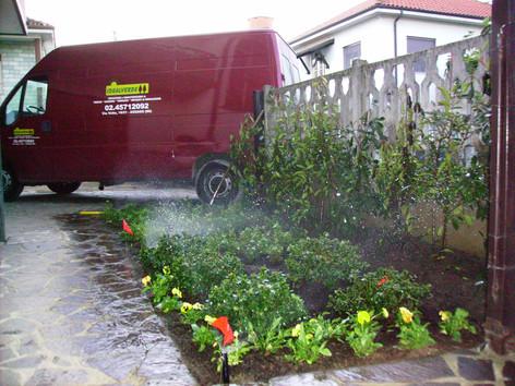 Irrigazione aiuola