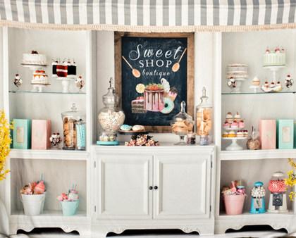 sweet shop backdrop