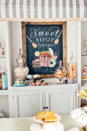 backdrop for sweet shop