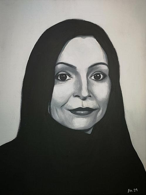 Kunst, Acrylmalerei, Malerei, St. Gallen, Leinwand, Frauenporträt, Porträtmalerei, Porträt nach Foto