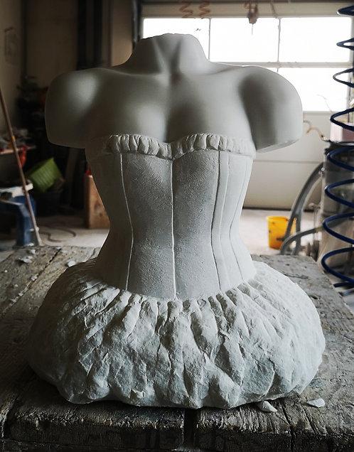 Bildhauerei St.Gallen, Bildhauerarbeit, Carrara Marmor, Frauentorso, Skulptur, St.Gallen