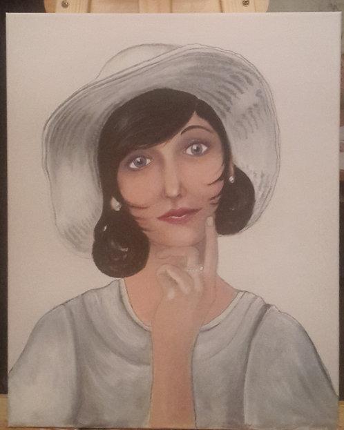 Kunst, Acrylmalerei, Malerei, Leinwand, Frauenporträt, Porträtmalerei, St. Gallen, Porträt nach Foto