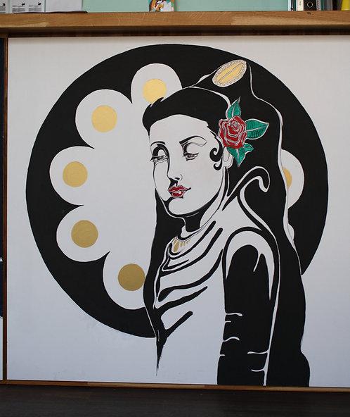 Kunst an der Theke, St.Gallen, Kunsttheke, Kunst St. Gallen, handbemalt, Jugendstil