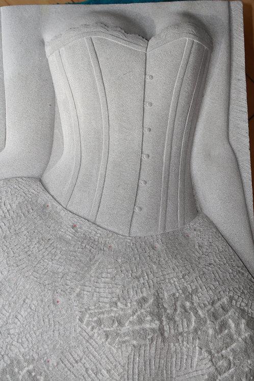 Bildhauerei St.Gallen, Bildhauerarbeit, Sandstein, Sandsteinrelief, Frauentorso, Hochrelief, St.Gallen