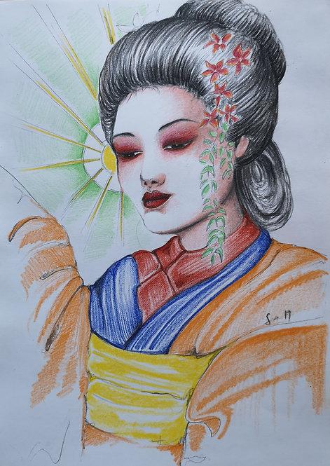 Geisha in Orange