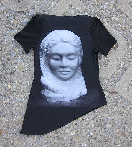 T-shirt, Design, St. Gallen, Mode, Modedesign St. Gallen, sasa me, swiss made, Kunst am Kleid, Baumwolljersey, Kunstshirt