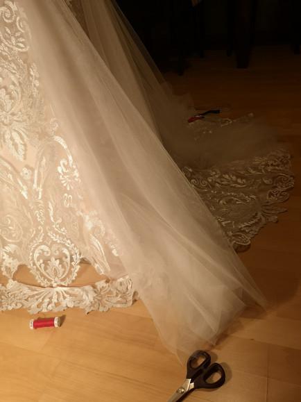 Hochzeitskleid anpassen und kürzen, St.Gallen