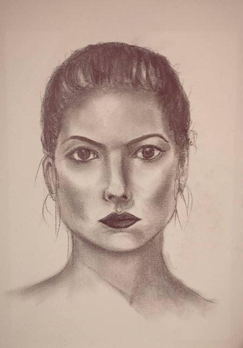 Kunst, Bleistiftzeichnung, Zeichnung, St. Gallen, Frauenporträt, Porträtzeichnung, Porträtmalerei