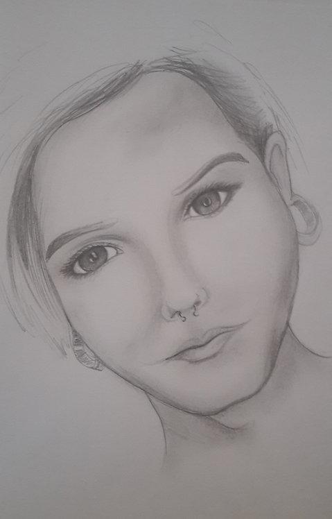 Kunst, Bleistiftporträt, Zeichnung, Porträtmalerei, St. Gallen, sasa me
