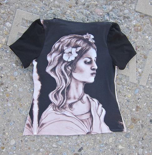 T-shirt, St. Gallen, Mode, Modedesign St. Gallen, sasa me, swiss made, Kunst am Kleid, Baumwolljersey, Kunstshirt