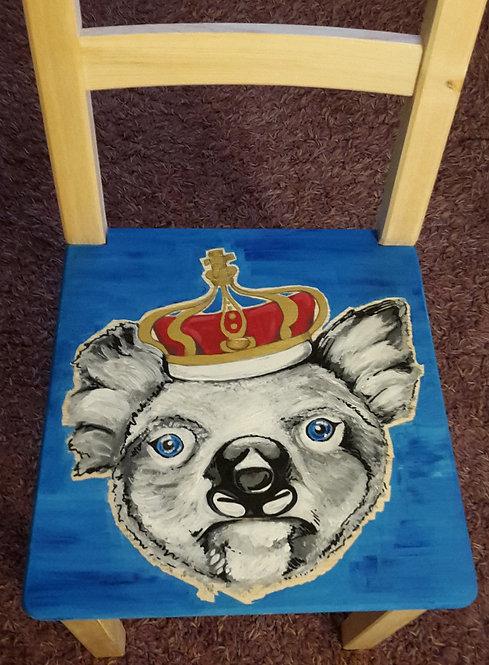 Stuhl mit Koalabär, blau, Kinderstuhl