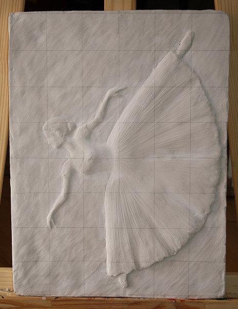 Bildhauerei St.Gallen, Bildhauerarbeit, Tonrelief, Ballerina, Flachrelief, St.Gallen