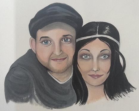 Porträt, Porträtmalerei, Kunst, Acryl, Acrylmalerei, Paar, Porträtmalerei St. Gallen