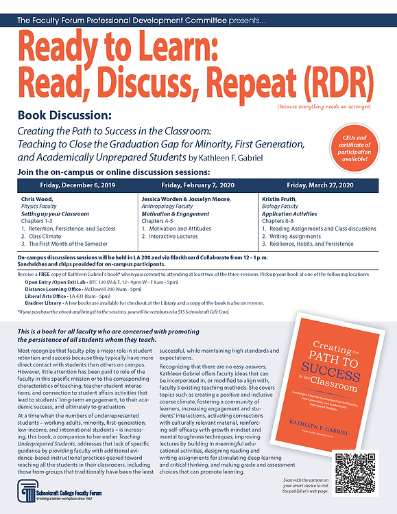 FF Prof Dev Book Discussion Announcement