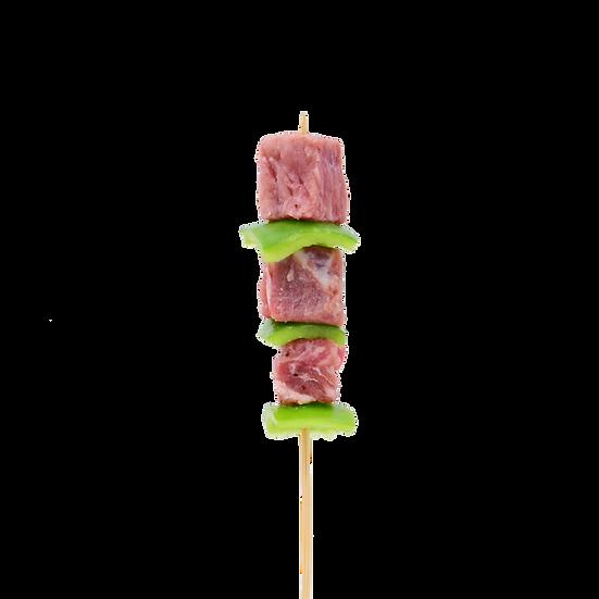 青椒和牛粒 - 6 串