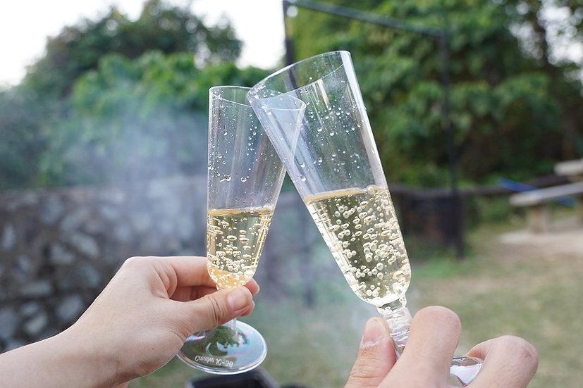膠香檳酒杯 - 10 個