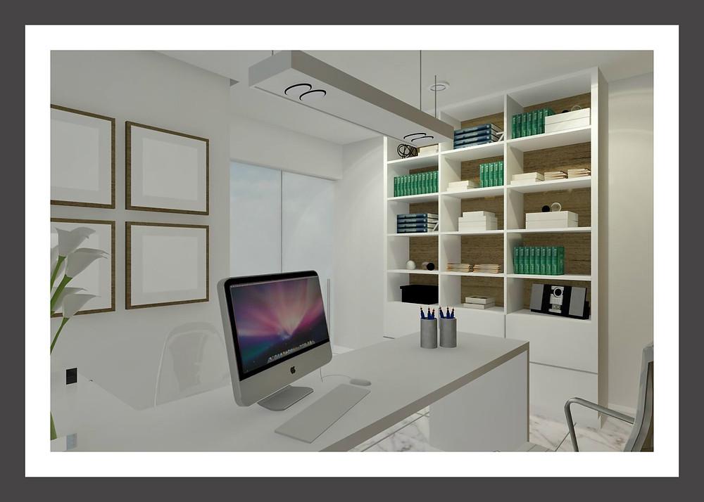 Projeto de Arquitetura de Recepção em Consultório ou Clínica Médica