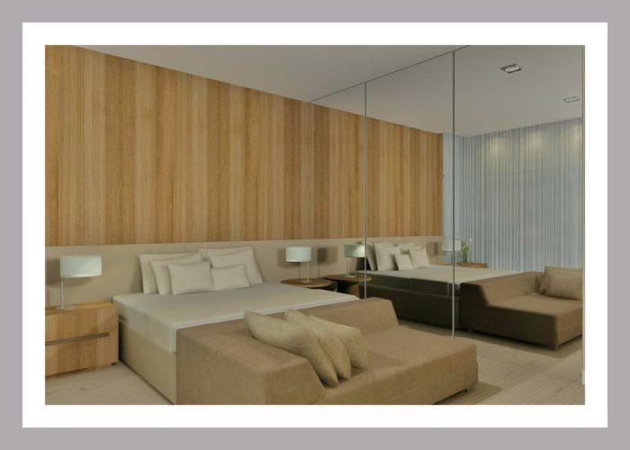Quarto de Casal decorado, projeto do escritório de arquitetura Aletheia Westermann Arquitetos, em Juiz de Fora, MG