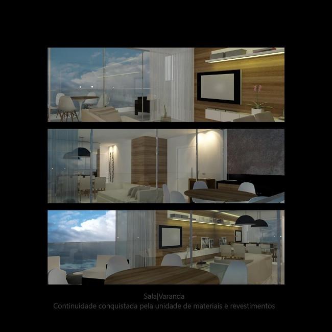 Incorporar a varanda à sala traz amplitude. O mesmo vale para as cozinhas. Com as paredes abaixo vale apostar em um recurso prático e versátil: as portas de correr. Por não ocupar espaço quando abertas, dão flexibilidade ao ambiente.