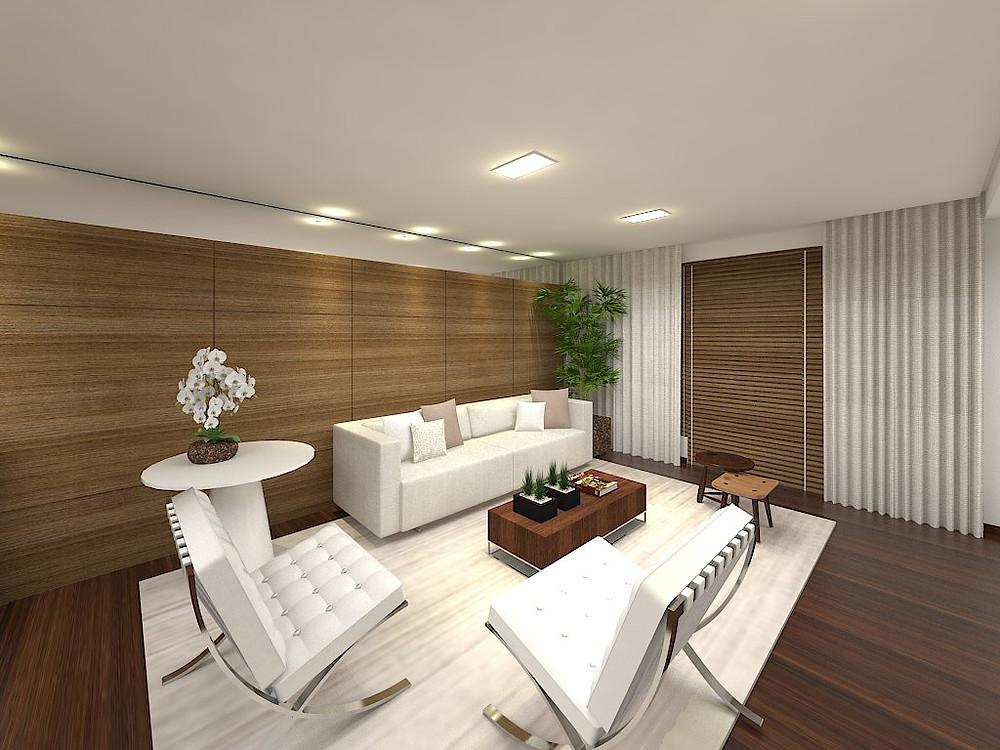 Sala integrada projeto arquitetura escritório Aletheia Westermann Arquitetos melhores de Juiz de Fora