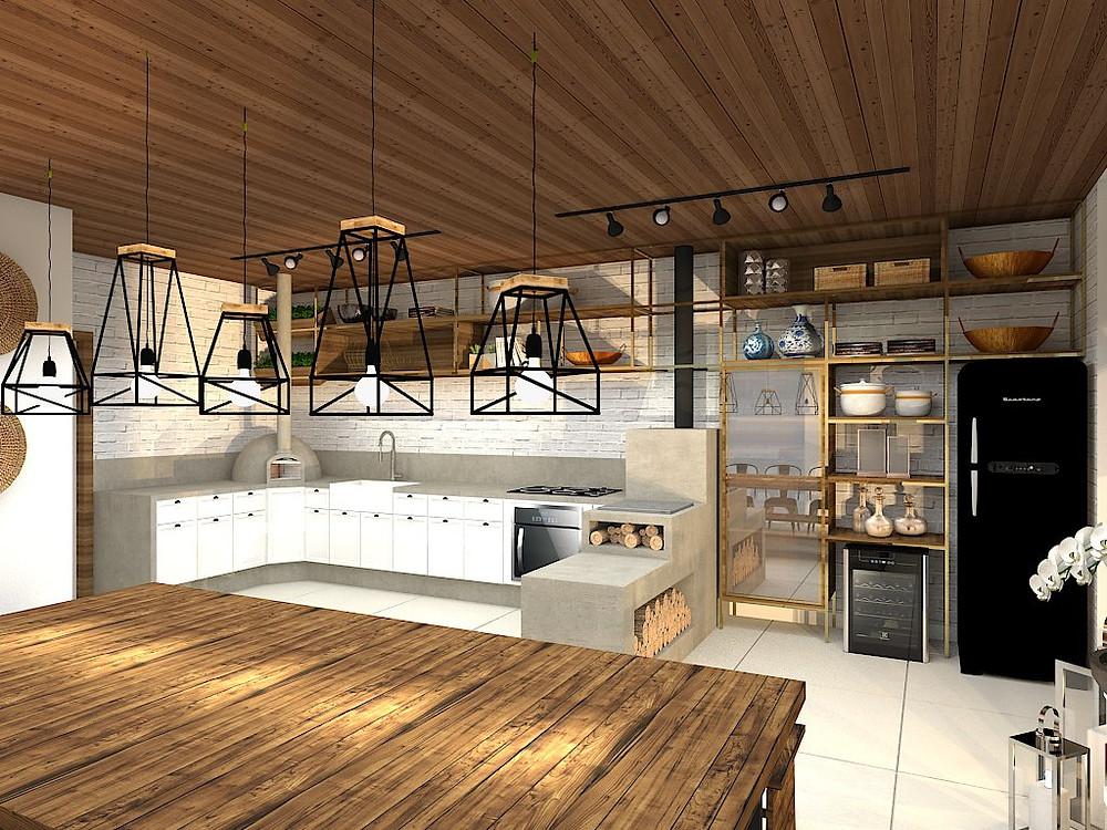 Decor decoração industrial na cozinha