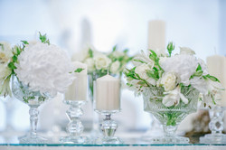 Table setting and center pieces