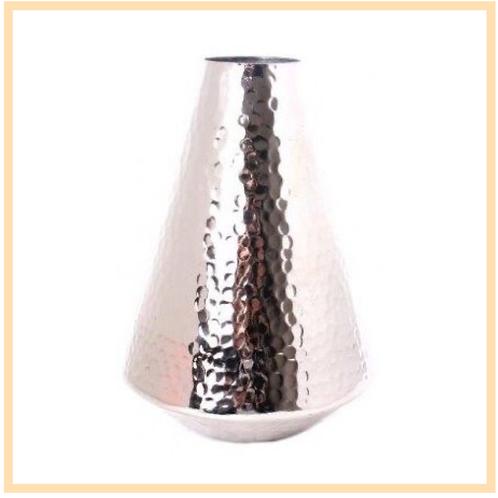 Aluminimum Hammered Vase
