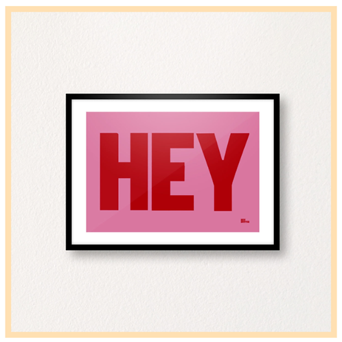 Handmade: Hey On Pink Dots Print, A4 Print
