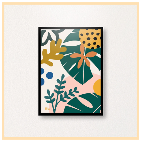 Handmade: Jungle Botanic, Muted Colours A4 Print