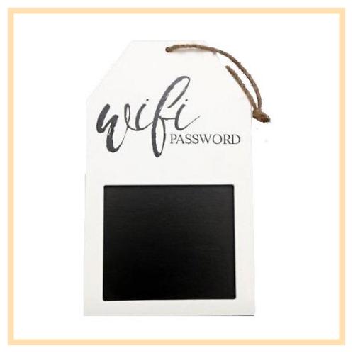 Hanging Wifi Password Plaque