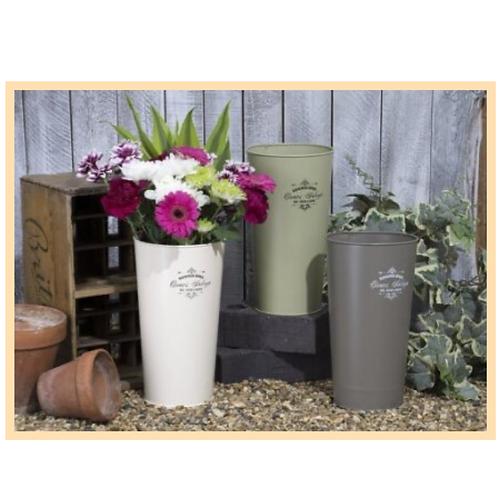 3 Tall Flower Buckets