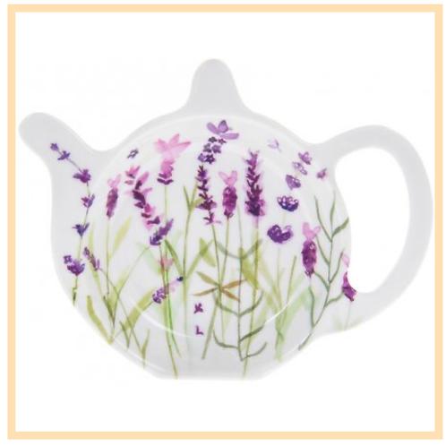 Lavender Garden Teabag Tidy