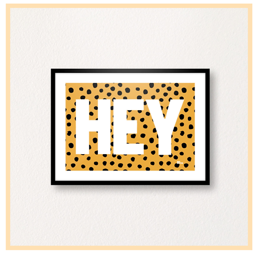 Handmade: Hey Leopard Print, A4 Print