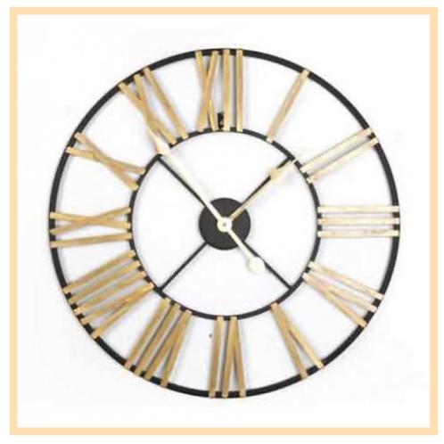 Black & Gold Roman Numeral Clock