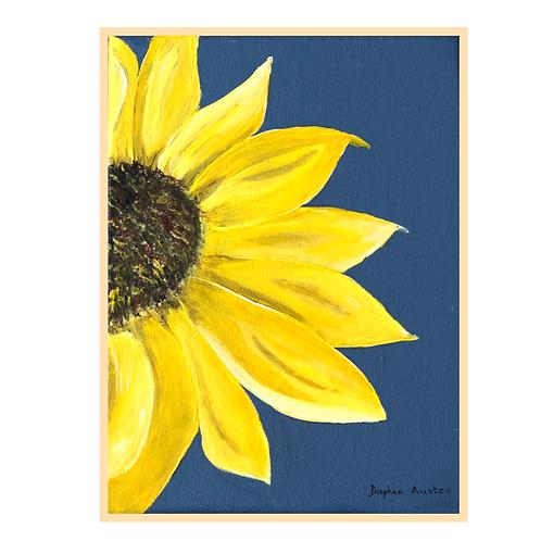 Handmade: Sunflower in Blue