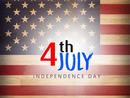 4 de Julho - A independência dos EUA