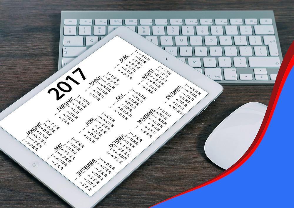 calendar - um ano em inglês
